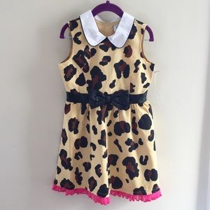 Harajuku Mini Girls Sleeveless Cheetah Print Dress